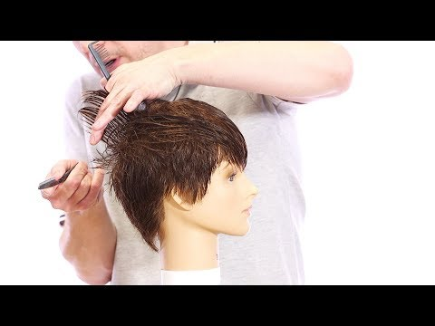 Pixie Haircut Tutorial - How to Cut a Pixie Haircut with a Razor - TheSalonGuy