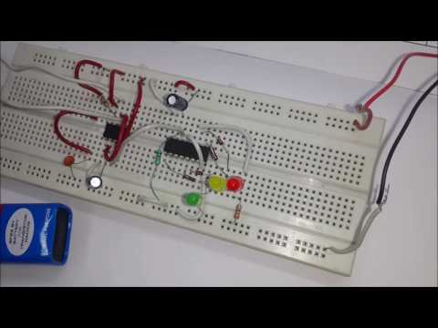 How To Make Traffic light signal (In Hindi)