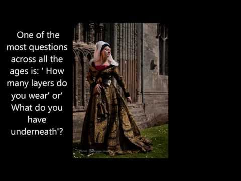dressing up medieval lady
