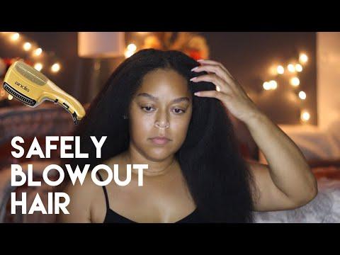 SAFELY BLOW OUT HAIR | SUPER QUICK + EASY | Danielle Renée
