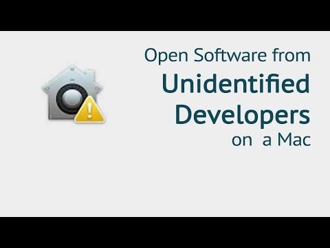 Can't be Opened Unidentified Developer - How to change your security preferences