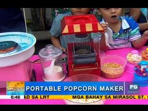 Make candy, popcorn, cotton candy using your own portable equipment | Unang Hirit