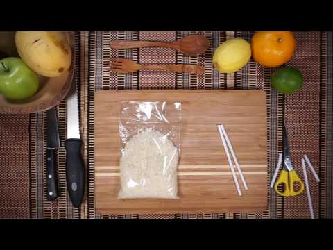 How to close a Bag with a Straw