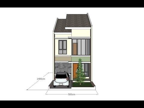 Sketchup tutorial make a house design