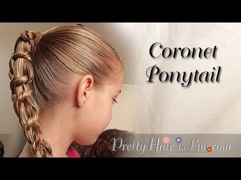 Coronet Braid Ponytail {Braid Hairstyles} |Pretty Hair is Fun