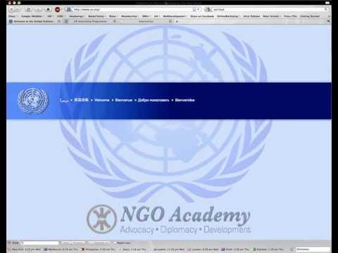 How to Get An Internship At The United Nations.
