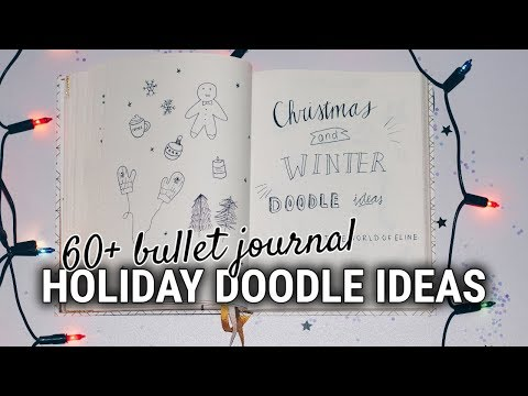 60+ Bullet Journal Doodle Ideas | CHRISTMAS & WINTER DRAW WITH ME