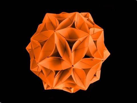 How to make an Origami Bucky Flower Ball from Stella Conica modules.