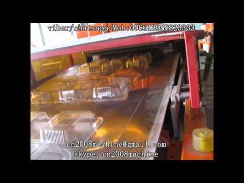 bops thermoforming machine ( plastic fast food container making machine)