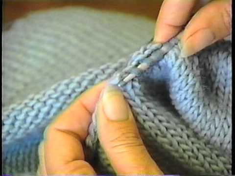 Sweater Finishing: Pick up Stitches Around the Neck