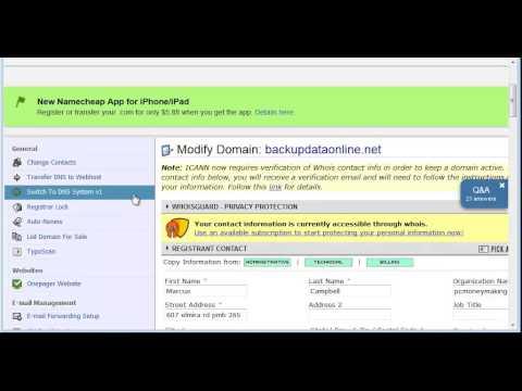 Change Hosting DNS In Domain Registrar