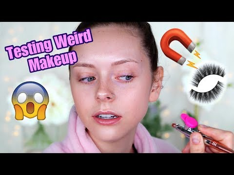 Testing Weird Makeup Products In My Pink Robe