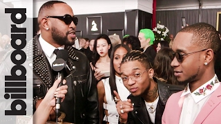Download Mike Will Made It & Rae Sremmurd on the 2017 Grammys Red Carpet: New Album & Hot Sauce   Billboard Video