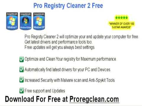registry cleaner microsoft xp free