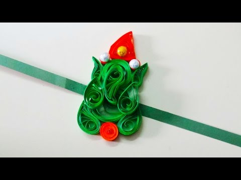 quilling artwork |  New model ganesh type rakhi