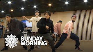 BTS rehearses choreography of
