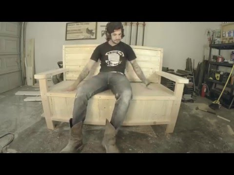 How to build an outdoor bench with hidden storage