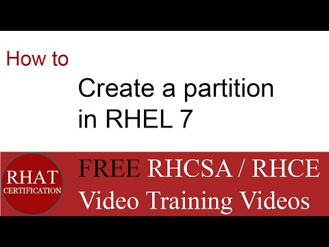 How to create a partition in rhel 7   tutorial RHEL7