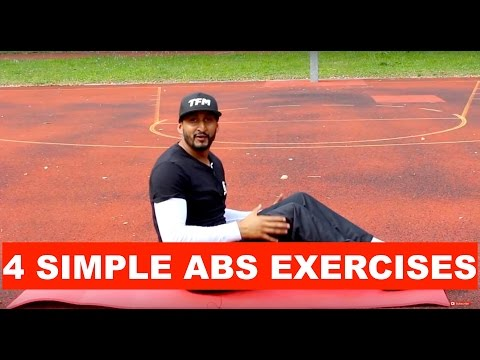 ABS WORKOUT | 4 SIMPLE ABS EXERCISES | TAMIL FITNESS | THUSHAAN