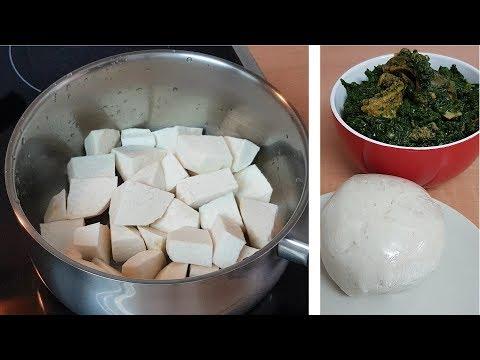 Cocoyam Fufu (Nni Ede)   All Nigerian Recipes