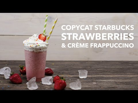 Copycat Starbucks Strawberries & Crème Frappuccino [BA Recipes]
