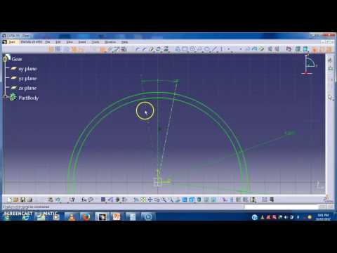 How to make model of  spur gear in Catia