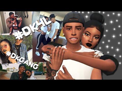 DK4L IN THE SIMS 4?! | Sims 4 Create A Sim | De'arra & Ken 4 Life + FULL CC LIST