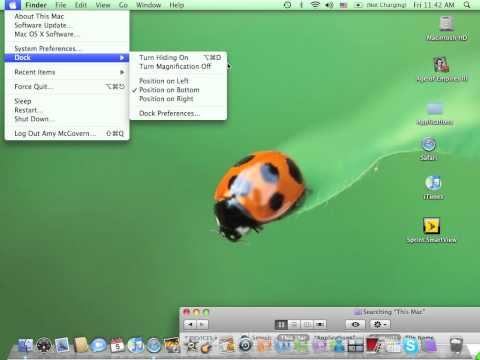 How to make the icons pop up on the mac