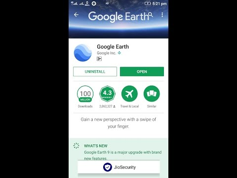 Google Earth in India Android app..April 2017