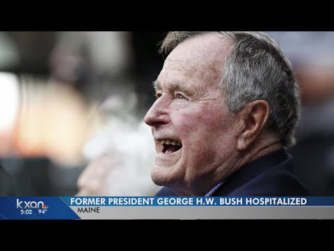 President George H.W. Bush hospitalized in Maine for low blood pressure, fatigue