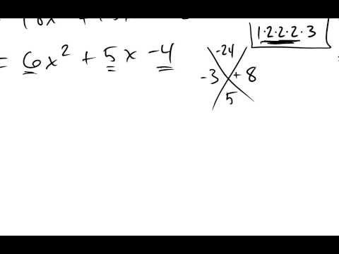 Factoring a quadratic with a leading coefficient greater than 1.