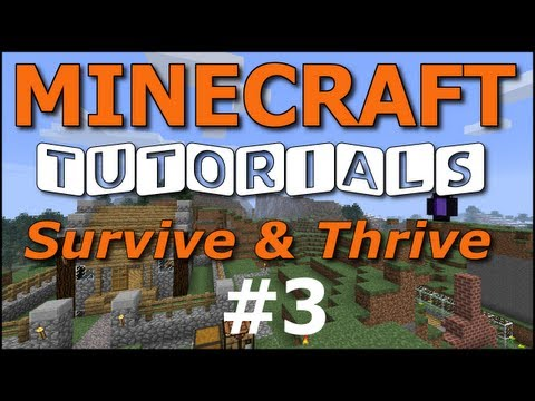 Minecraft Tutorials - E03 Door, Shears, Bed (Survive and Thrive II)