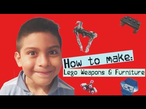 How to Make Lego Weapons & Furniture
