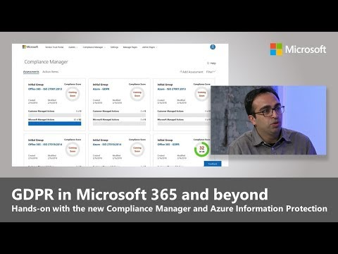 Preparing for GDPR: Compliance management and information protection capabilities in Microsoft 365