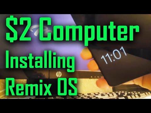 $2 Computer: Installing Remix OS