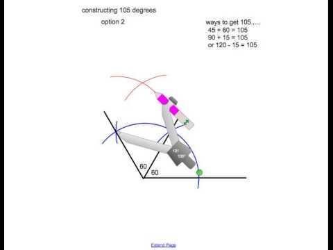 constructing 105 degree angle