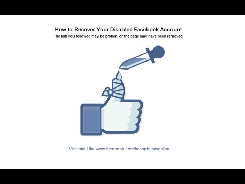 HOW TO GET BACK YOUR DISABLED FACEBOOK ACCOUNT