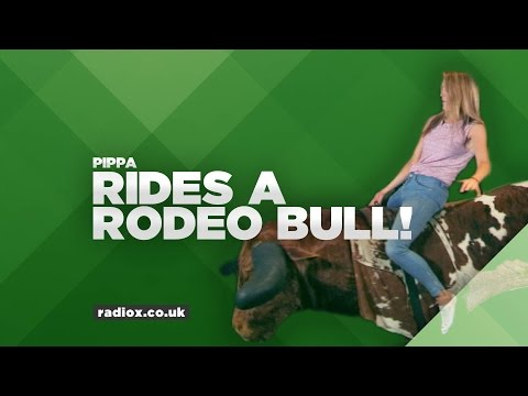 REVEALED: Watch how long Pippa lasts on a rodeo bull!
