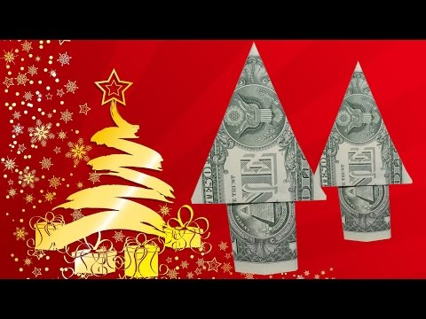 Dollar Origami: Christmas Tree| Easy tutorials and how to's for everyone #Urbanskills