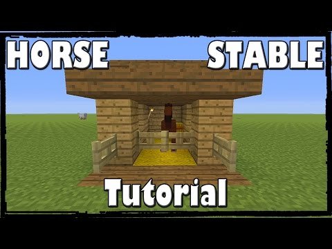Minecraft: How To Make A Horse Stable [TUTORIAL]