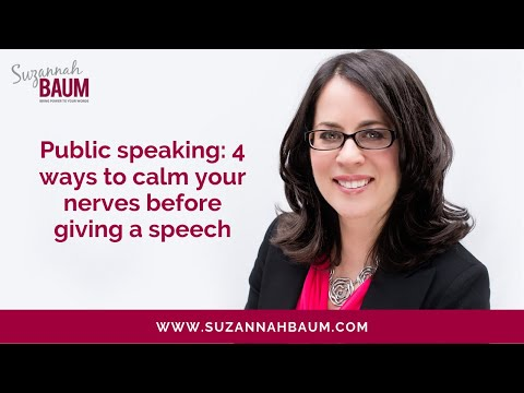 Public speaking: 4 ways to calm your nerves before giving a speech