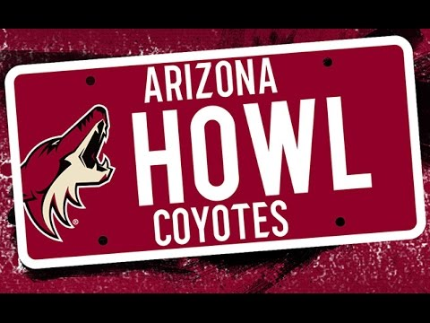 Official Arizona Coyotes License Plate