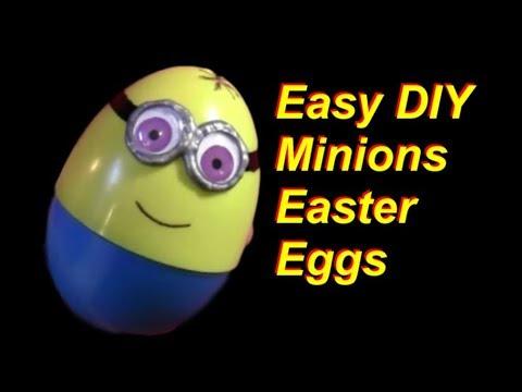 Super Easy DIY Minions Easter Eggs