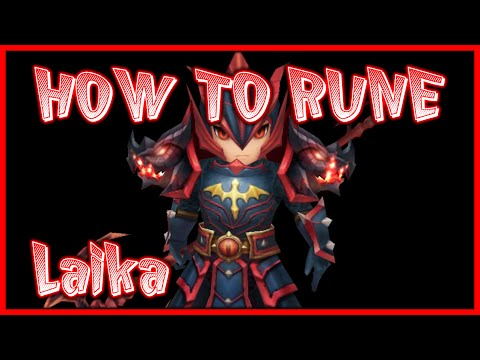 HOW TO RUNE LAIKA (FIRE DRAGON KNIGHT) - G3 SUMMONERS WAR REVIEW
