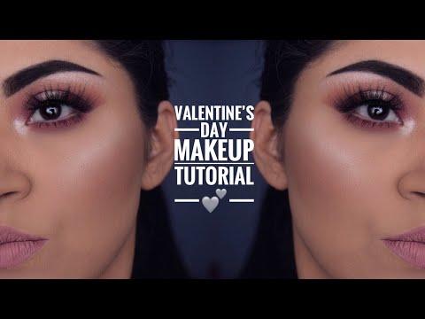 Soft Romantic Valentine's Day Makeup Tutorial 2018