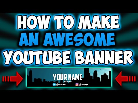 How To Make A YouTube Banner For Free!No Photoshop!