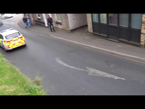 Lancashire Police car on 999 emergency call Ormskirk Lancashire England UK