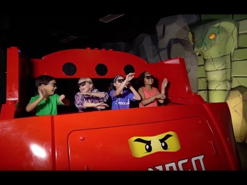 Inside LEGO NINJAGO The Ride at LEGOLAND Florida