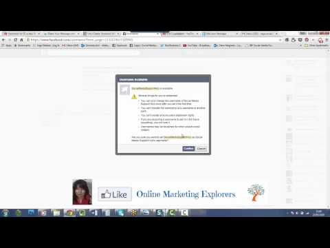 How to create a customised Facebook website address