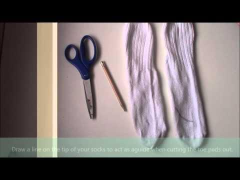 DIY Ballet Toe Pads